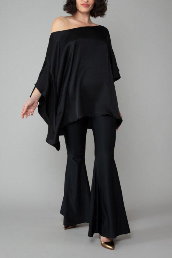 panta london nero con baschina elegante comodo moda made in italy