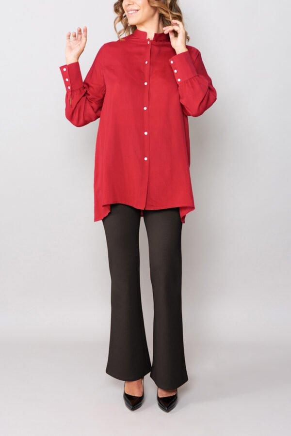 camicia tokio terracotta maniche lunghe roderi