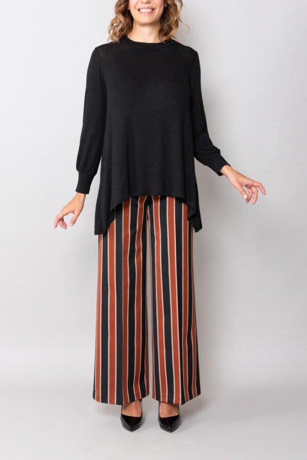 maglia athenes maglina nera roderi abbigliamento donna