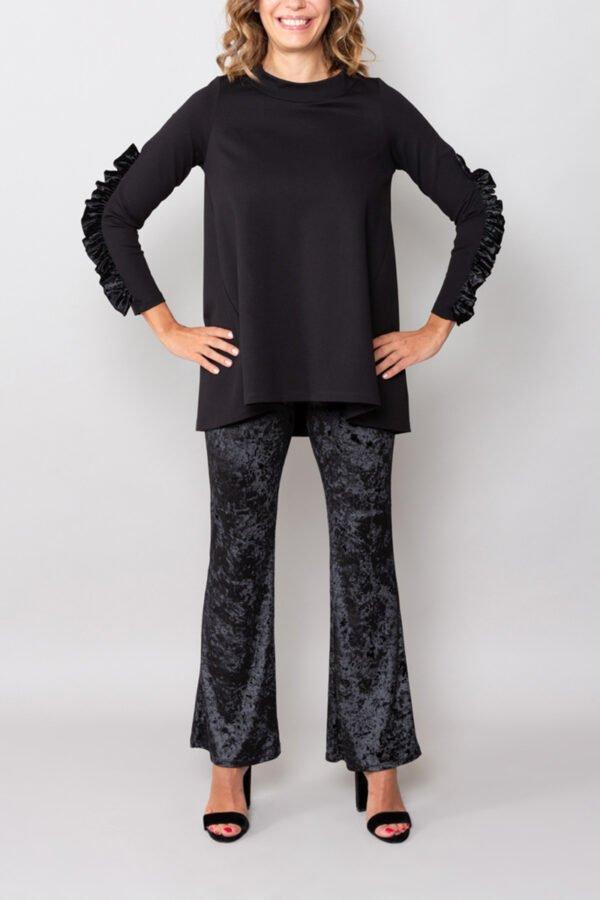 top seul nero roderi made in italy abbigliamento donna