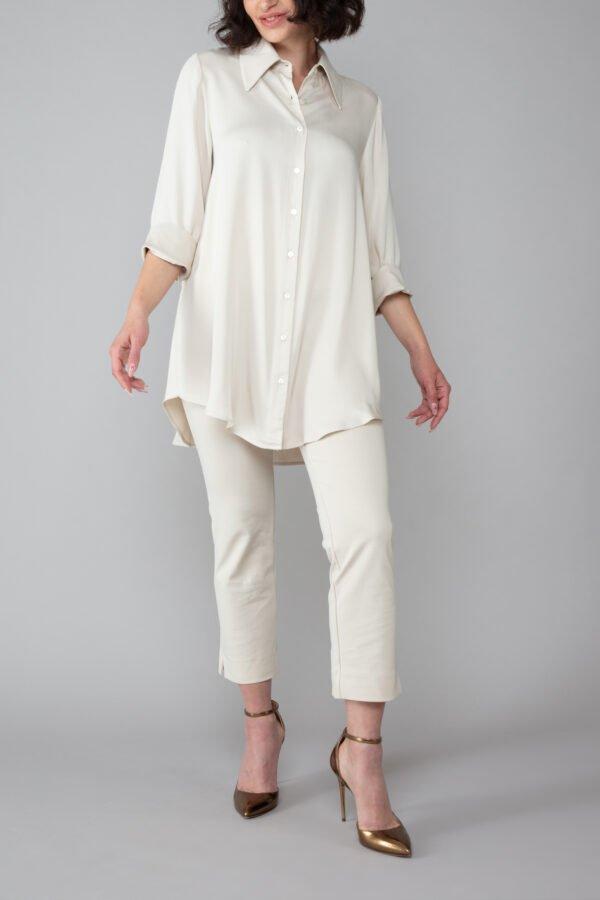 panta bb sabbia con baschina comodo elegante moda made in italy