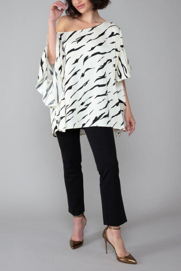 panta audrey nero con baschina comodo elegante moda made in italy