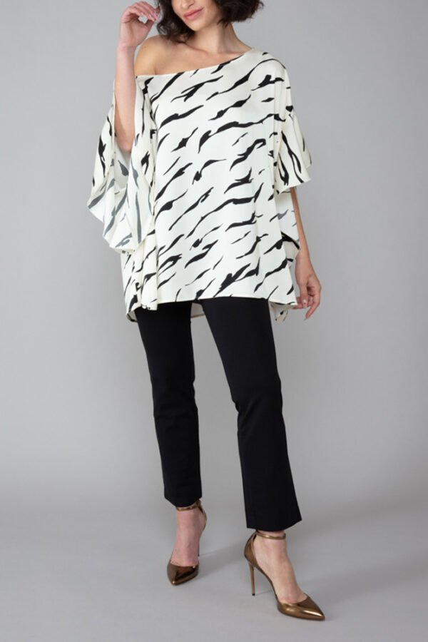 top capri donna zebrato roderì abbigliamento inclusivo made in italy
