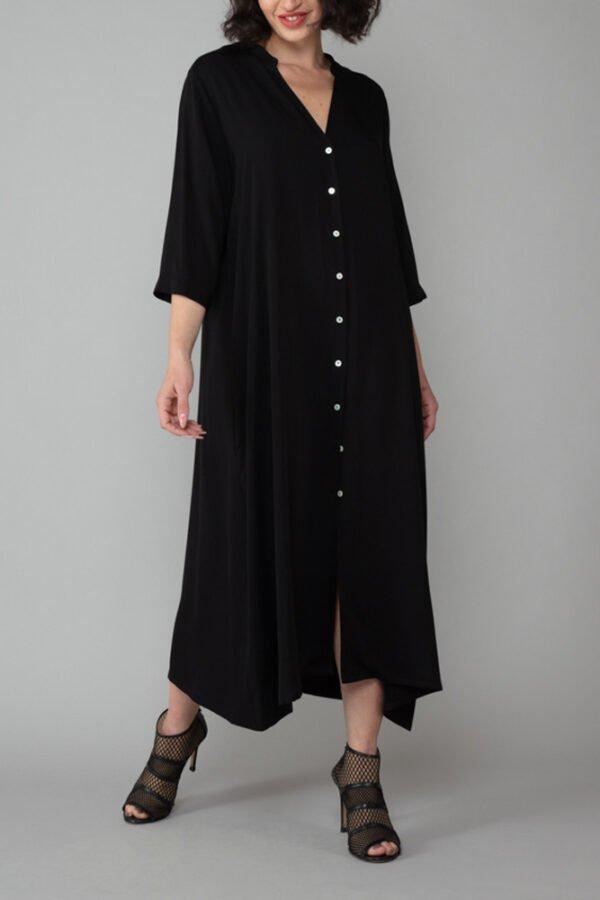 abito ischia chemisier nero comodo elegante inclusivo