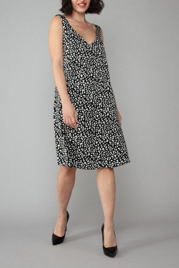 abito nina fantasia maculata sottoveste elegante moda inclusiva made in italy abbigliamento donna