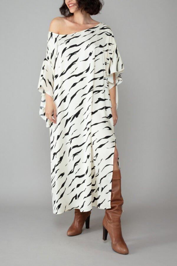 abito caftano ponza fantasia zebrata comodo elegante inclusivo