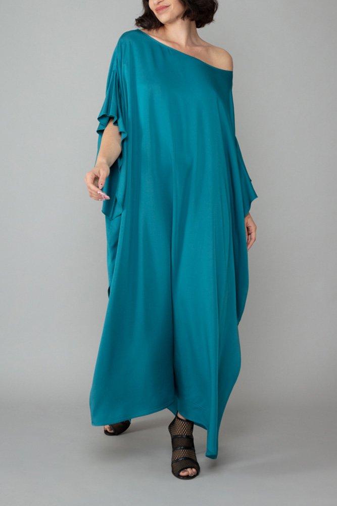 abito caftano ponza turchese comodo elegante inclusivo