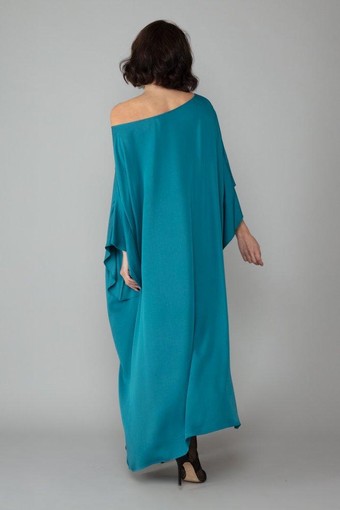 abito caftano ponza turchese dietro comodo elegante inclusivo